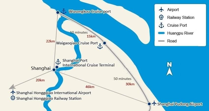 Shanghai Cruise Port Map