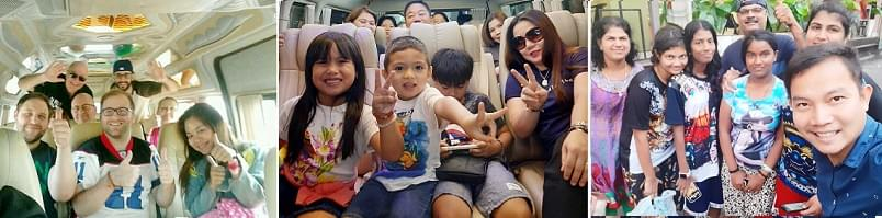 Thailand happy passengers
