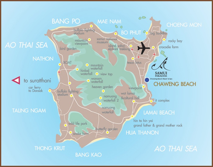 Koh Samui tourist map