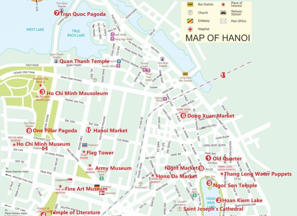 Hanoi Tourist Map
